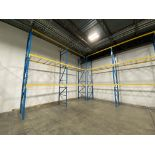 """Lot of structural steel pallet racking including (8) 42"""" X 18' uprights, (24) bolt in 96"""" cross"""