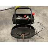 Steel strapping cart with strappping reel and tools