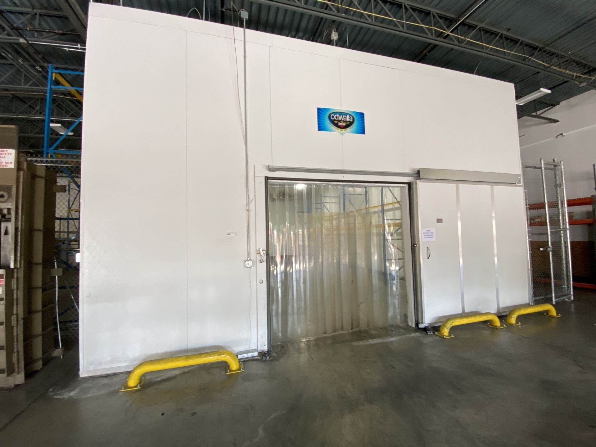 AIP (American Insulated Panel) drive in panel system free standing cooler, 50' X 25' X 18' clear