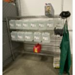 """6' X 24"""" X 4 tier Metro rack with contens including (6) gallons of commercial truck antifreeze, (33)"""