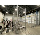 Lot of HD galvanized chain link safety/security cage including (5) 10' (l) X 10' (h) floor mounted