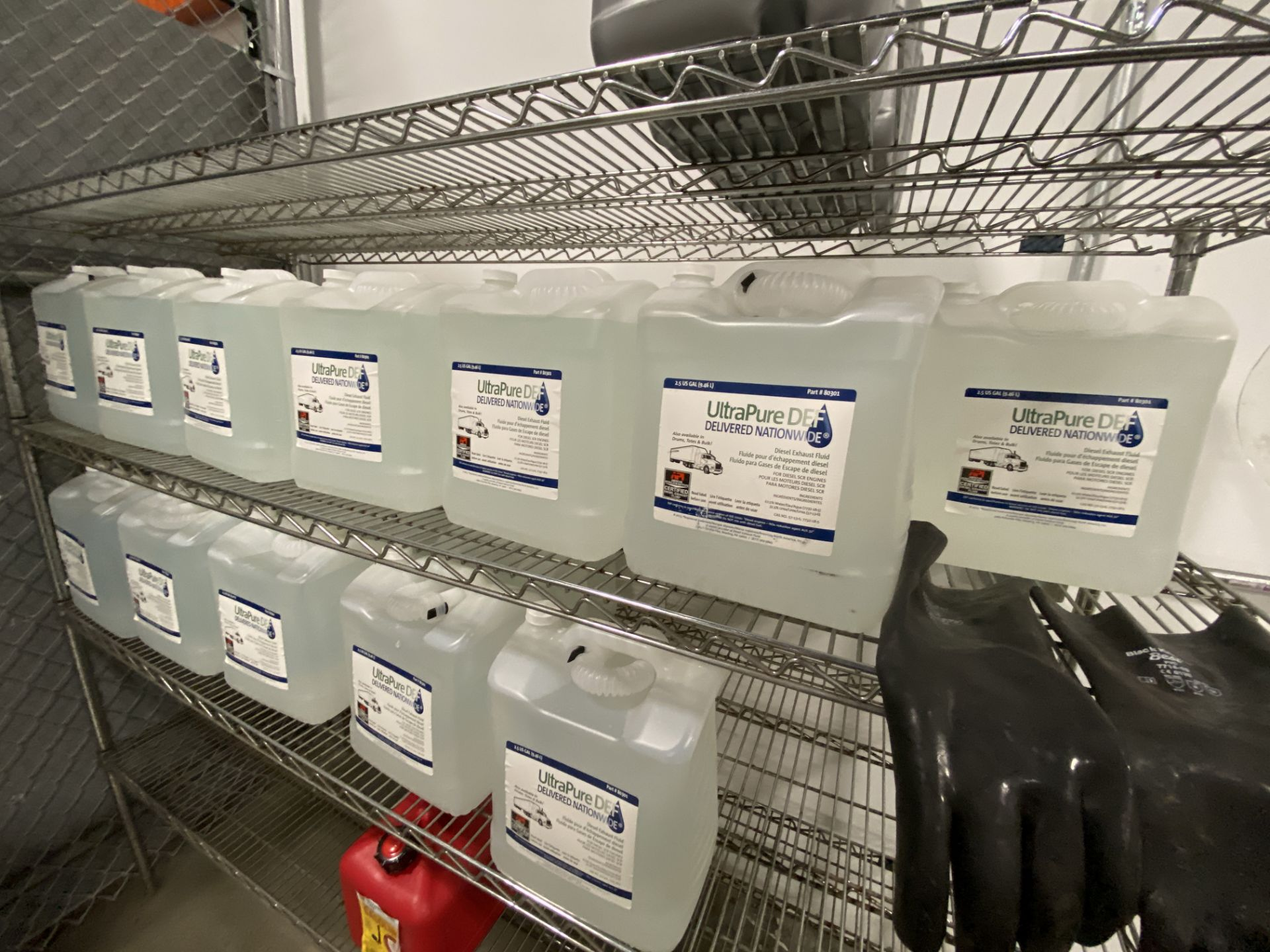"""6' X 24"""" X 4 tier Metro rack with contens including (6) gallons of commercial truck antifreeze, (33) - Image 3 of 5"""