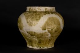 Arte Cinese A glazed terracotta jar decorated with dragonChina, Ming dynasty, 15th/16th century.