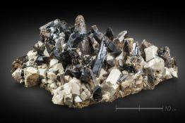 Naturalia Aegirine with quartzMalosa mount, Malawi .