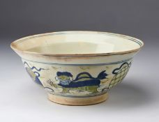 Arte Islamica A Ming Chinese style pottery bowl Possibly Safavid Iran, 17th century .