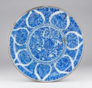 Arte Islamica A large Safavid blue and white pottery charger in the Chinese taste Persia, 17th cent