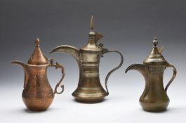 Arte Islamica Three metal jugs Afghanistan or Kashmir, late 19th - early 20th century .
