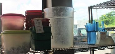 LOT OF ICE BUCKETS & MEASURE