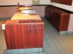 LOT CORIAN 10' CHECK OUT FRONT & BACK COUNTER