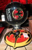 Bacardi Bat Lighted Sign