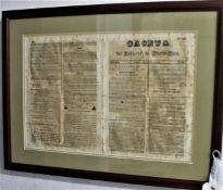 OCTOBER, 1840 FRONT PAGE PUERTO RICO GACETA