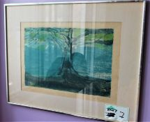 """"""" TREE IN THE FIELD""""SERIAGRAPHY SIGNED"""