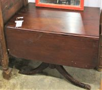 "DROP LEAF MAHOGANY TABLE 6'7""X3'2"""