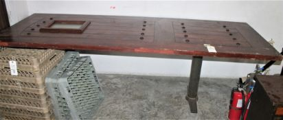 8'X3' MAHOGANY DOOR TOP TABLE