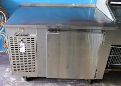 EDWARDS REFRIGERATED WORK TABLE ON WHEELS