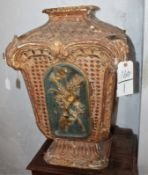 ITALIAN CARVED PAINTED 17th CENTURY TABERNACLE