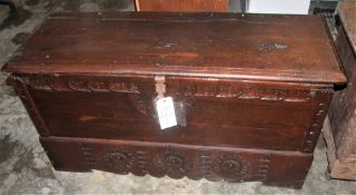 SPANISH 19TH CENTURY TRUNK