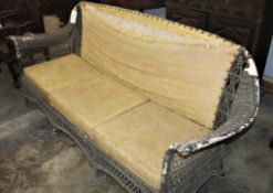 WICKER 7' SOFA EARLY 1900s