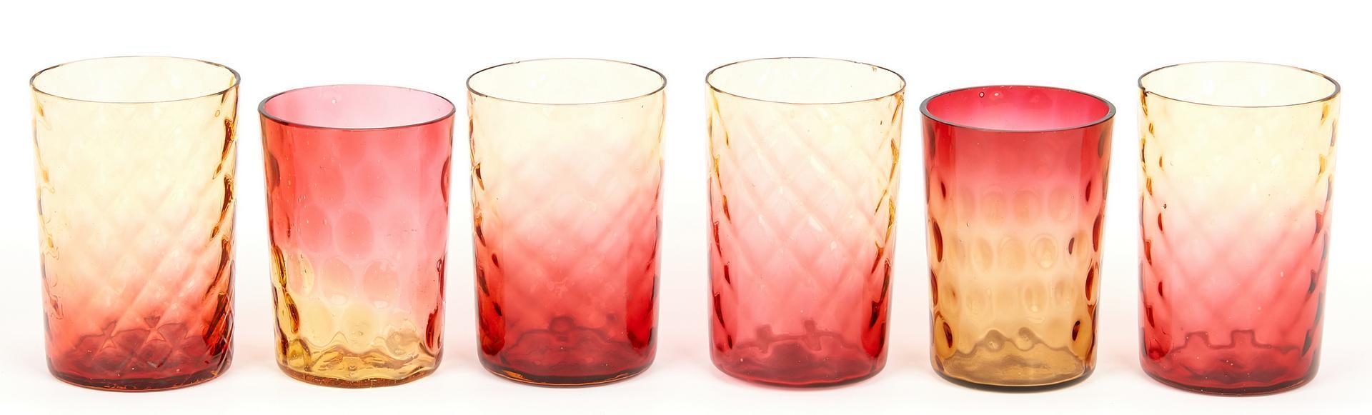 Lot 976 - 12 Art Glass Items, Peachblow & Amberina