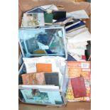 Assorted postal history, stamps and ephemera (box)