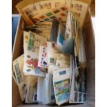 Assorted stamps, British Commonwealth and all world, a large covers accumulation, circa 1400, with