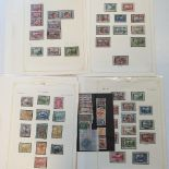 A group of Iraq stamps, 1918-1942, an extensive collection on album leaves with complete and part