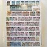 A collection of Great Britain stamps, QV-QEII duplicated predominantly used accumulation in four
