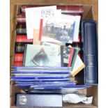 Assorted Guernsey, Jersey, Isle of Man, other stamps, stock books and a group of Channel Tunnel