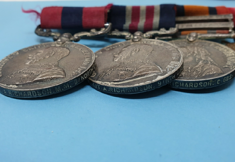 A double gallantry group of six medals, awarded to 18700 CS MJR-ARS MJR A Richardson 9/North'd - Image 3 of 3