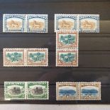South Africa Pictorial issue stamps, 1927-30, 1/- (2), 2/6 (2), 5/- and 10/- values in fine m/n