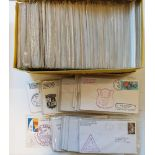 Assorted USA ship covers, with a variety of colourful cachets and frankings, circa 140