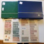 A group of Palestine stamps, 1918-27 duplicated dealer's accumulation of three stockbooks with