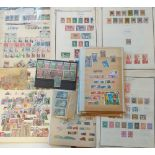 An accumulation of French Colony stamps, on leaves, stock cards and envelopes