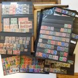 Assorted Great Britain stamps, 1840-1960s, a mint and used dealer's accumulation on cards with