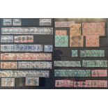 A group of South Africa stamps, on cards with GV to 10/- plus coils and blocks, early issues with