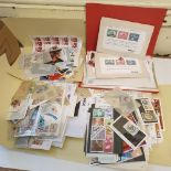 Assorted world stamps and mini sheets on cards, glassines, some thematic interest many hundreds