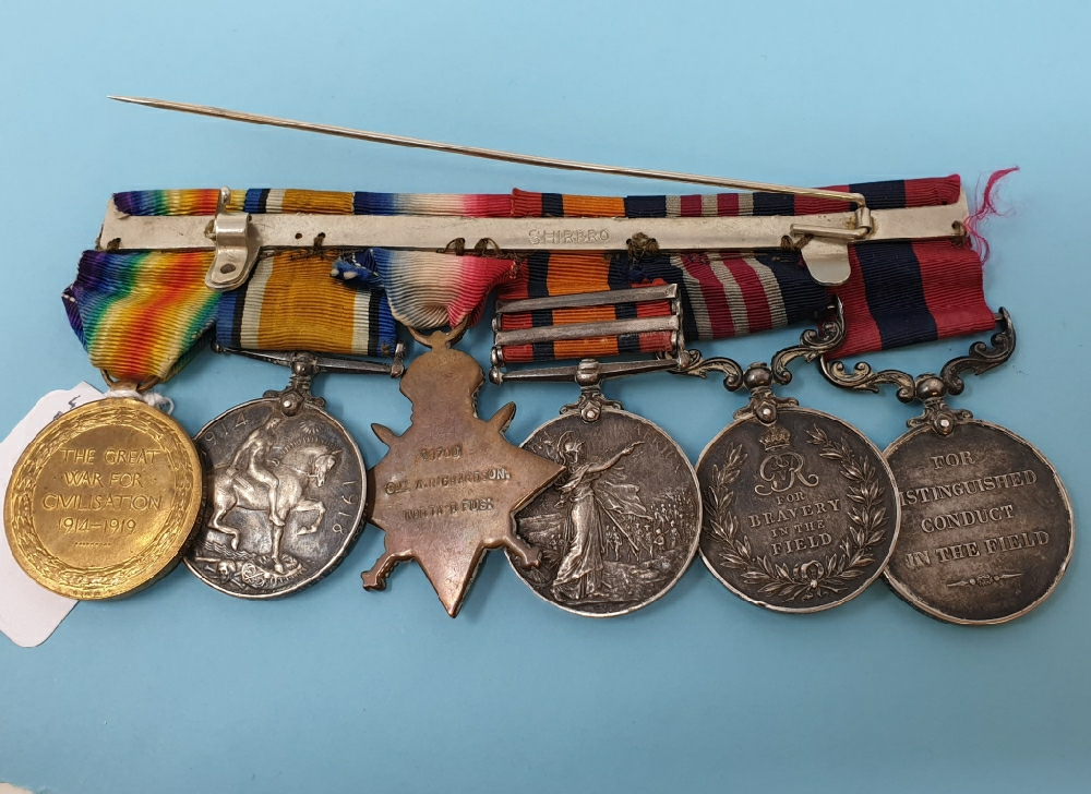 A double gallantry group of six medals, awarded to 18700 CS MJR-ARS MJR A Richardson 9/North'd - Image 2 of 3