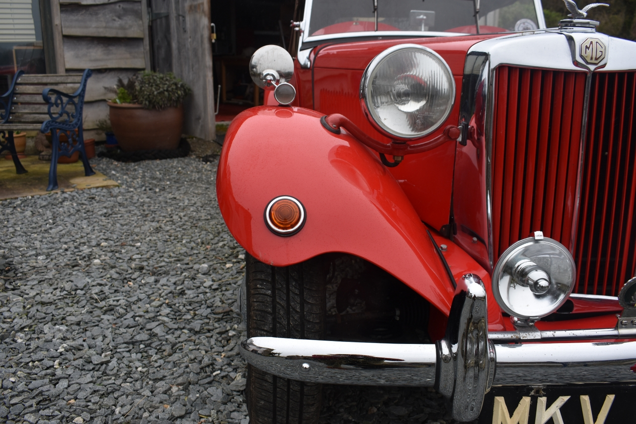 Lot 8 - A 1953 MG TD Registration number MKV 828 Chassis number TD/28408 Engine number TD2/28446 Red with