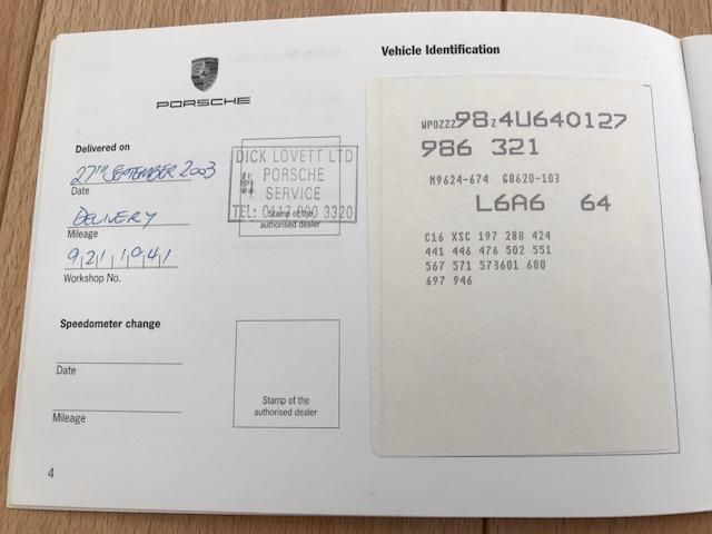 Lot 17 - A 2003 Porsche Boxster S Registration number WX53 DVZ Metallic silver, black leather, manual Less