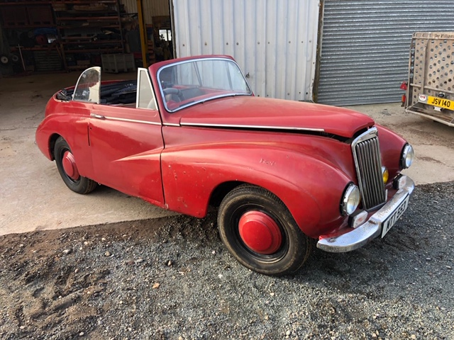 Lot 15 - A 1950 Sunbeam-Talbot 80 Drop Head Coupe Registration number MTT 553 Red Garage stored Restoration