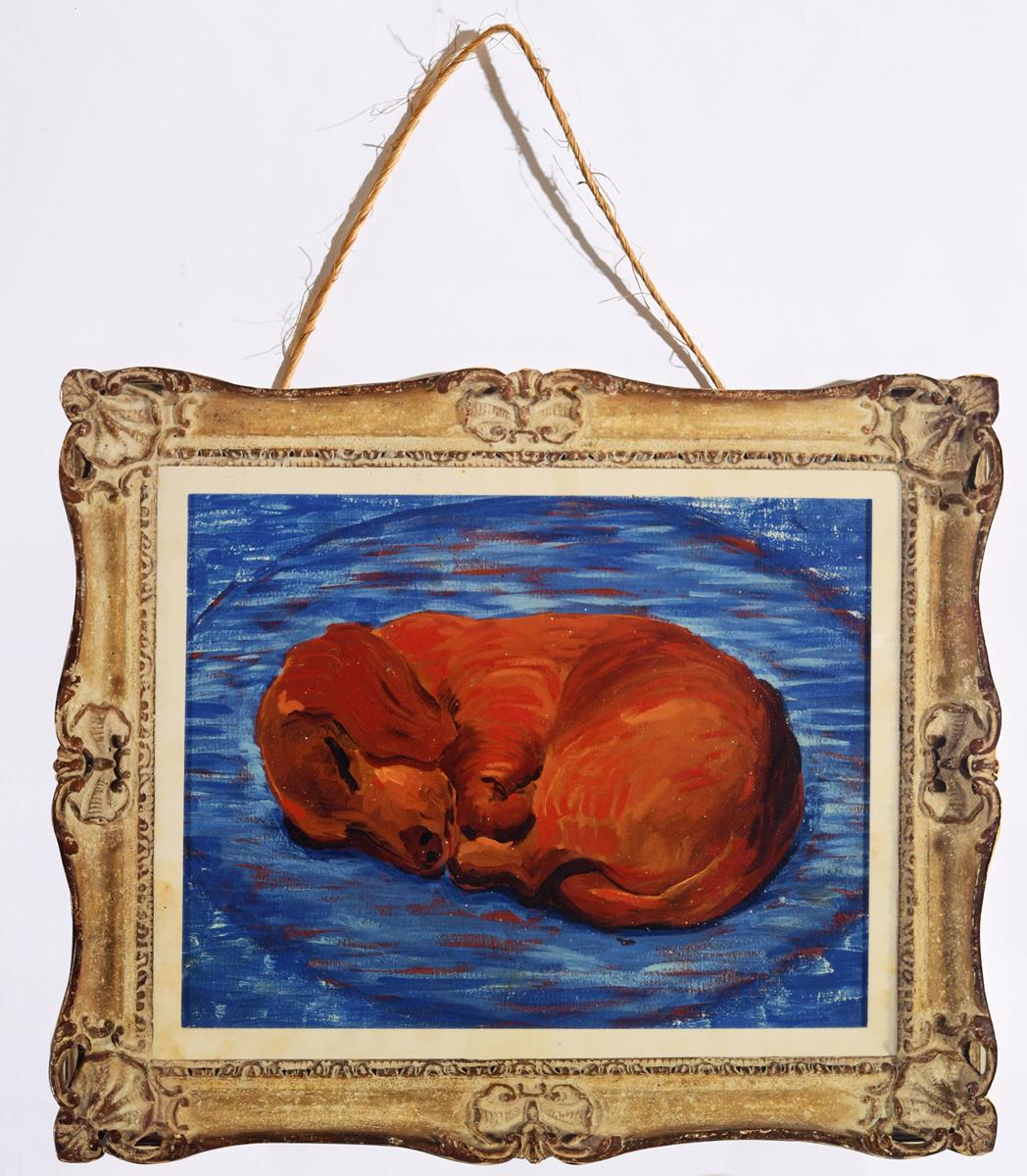 Lot 52 - David Hockney (b. 1937), 'Little Stanley Sleeping', a cut out from 1987 Tate Gallery Exhibition,
