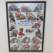A tribute to the works of Alan Sanderson limited edition poster, 81/100 featuring signatures of
