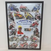 A tribute to the works of Alan Sanderson limited edition poster, 32/100, featuring signatures of