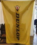 A large DUNLOP BANNER signed by John McGuinness and Ian Hutchinson