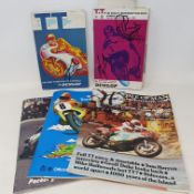 Assorted Isle of Man Tourist Trophy (TT) official race programmes, including 1967 signed by Phil
