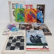 A run of Isle of Man Tourist Trophy (TT) official programme and guide (1970-76), including 1970