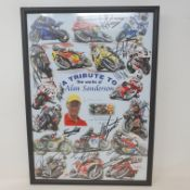 A tribute to the works of Alan Sanderson limited edition poster, 74/100 with multiple signatures