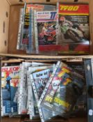 A large quantity of Isle of Man TT Manx Grand Prix official race programmes from the '80's, '90's