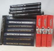Assorted motorcycle related reference magazines, including Motorcycle Enthusiasts (vols 1-4),