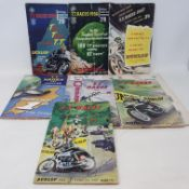 A run of Isle of Man Tourist Trophy (TT) official guide and programme (1953-59) including signed